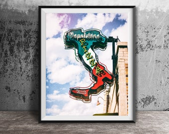 PIZZA, Neapolitan, Napoletana - Unframed Photography Print - Kitchen Wall Decor, Photo Art, Dining Room Print - Italian Food, Italy Map