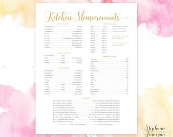 Kitchen Measurements | Kitchen Conversions | Kitchen Equivalents | Cooking Conversions | Conversion Chart | Kitchen Chart | Kitchen Decor