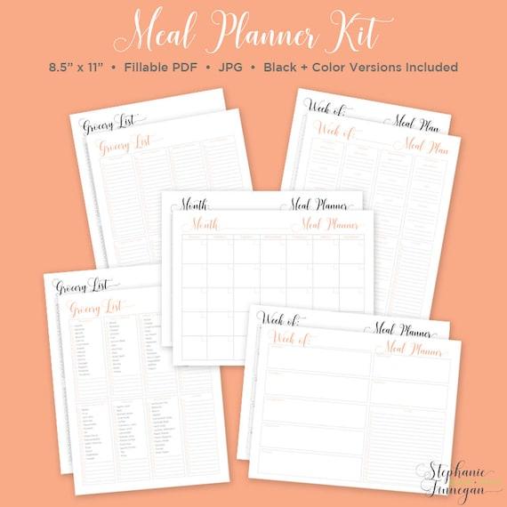 Mahlzeit-Planer-Kit Essen Planer Monatliche