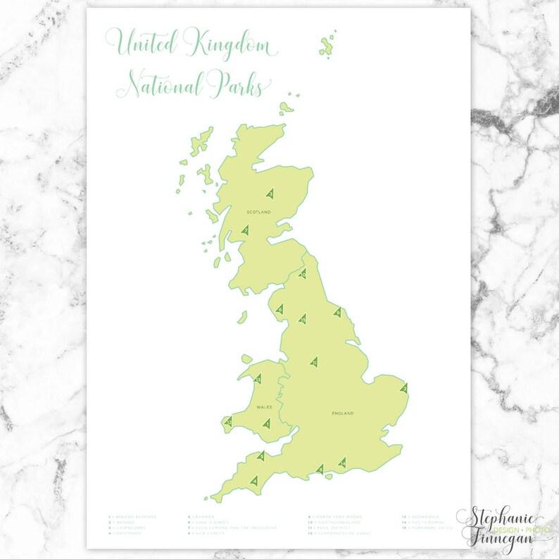 Map Of Uk National Parks.United Kingdom National Parks Map National Parks National Parks Map United Kingdom National Park Poster Wall Art Printable Map