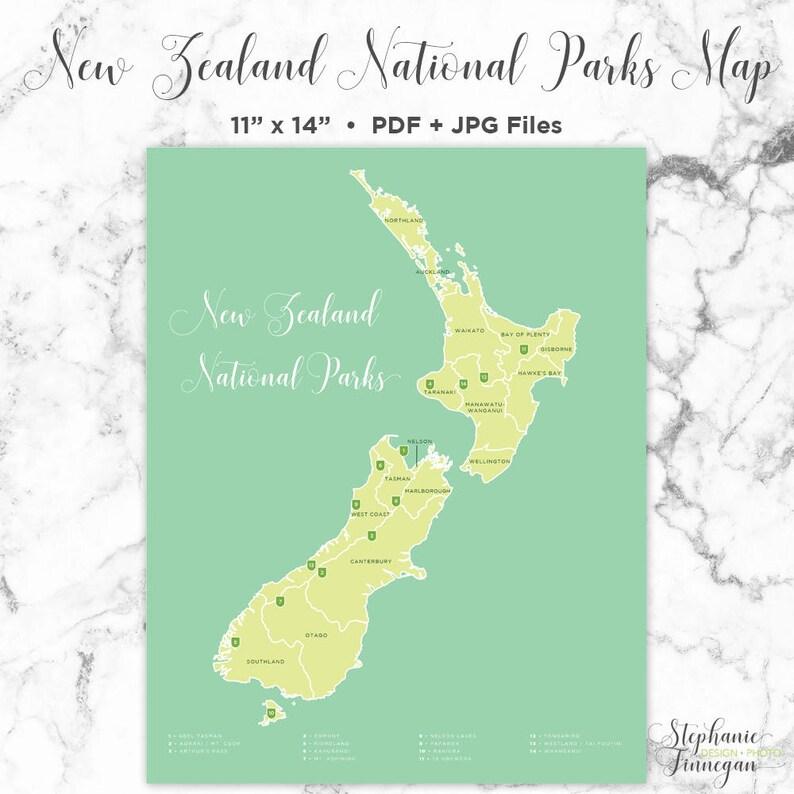 New Zealand Map Pdf.New Zealand National Parks Map National Parks National Parks Map New Zealand New Zealand Map National Park Poster Printable