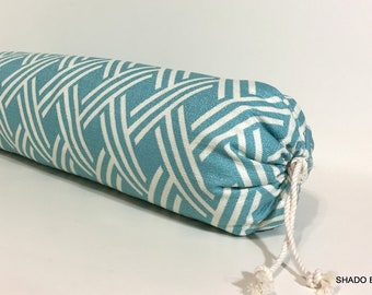 BOLSTER pillow cover in Aqua. 6x20 Neckroll pillow cover. Beach decor, throw pillow, accent pillows