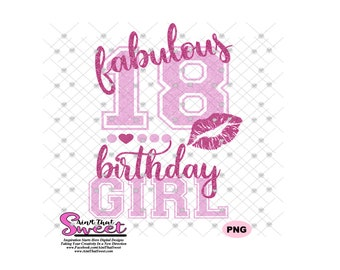 Cricut Scan N Cut Transparent PNG Silhouette I/'m Turning 54 and Fabulous Wine Glasses and Lips SVG