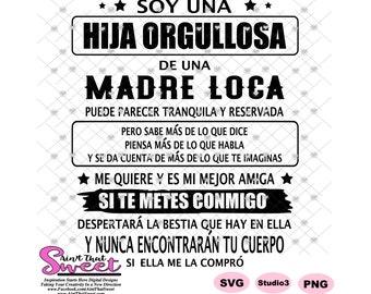 Si no te tuviera como madre te elegiria como amiga png Spanish sublimation template funny mug designs spanish svg files