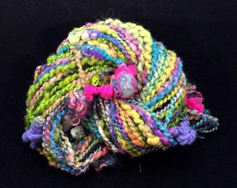 Handspun Bulky Art Yarn- Butterfly Parade
