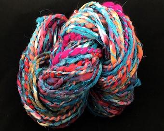 Handspun Bulky Art Yarn- Bohemian Romp