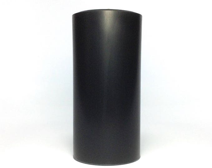 "Black Soy Pillar Candle Unscented - Choose 4"", 6"", 9"" Tall"