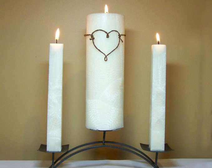 """Wedding Ceremony Unity Candle Set (Stand NOT Included) - 9"""" Tall"""