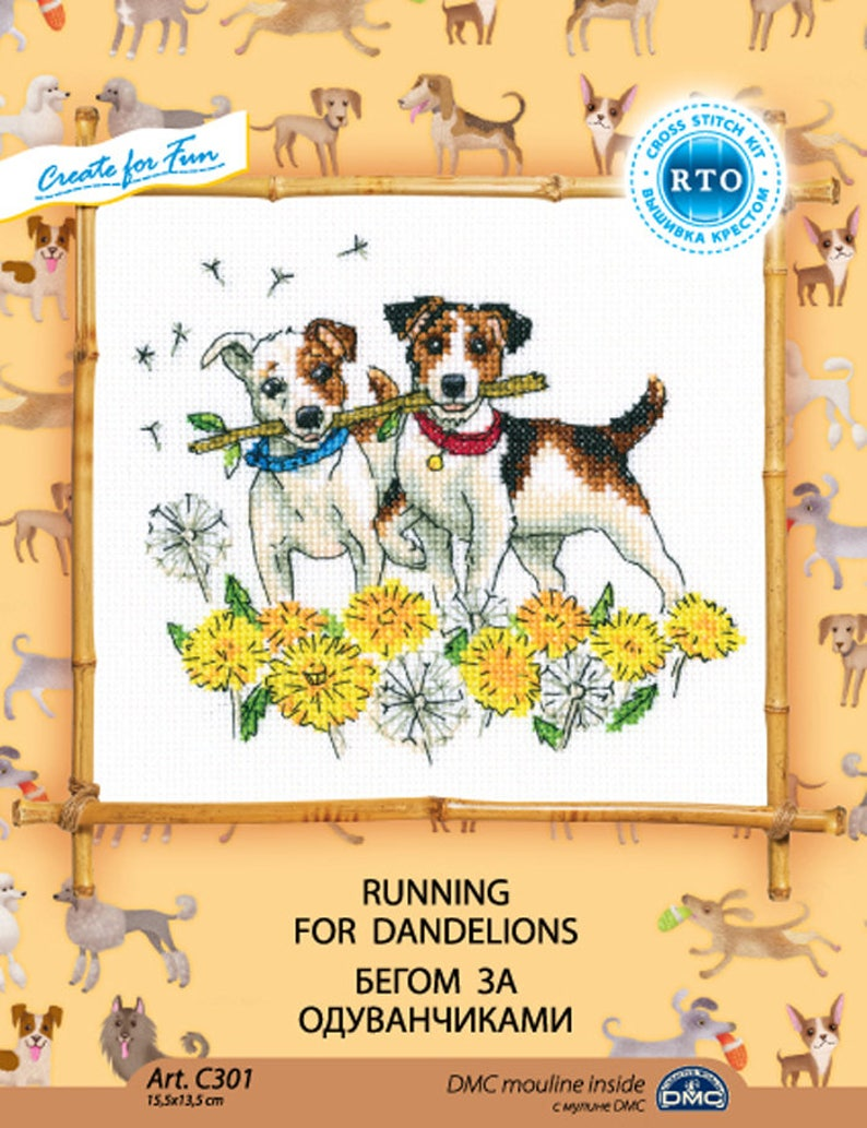 "Counted Cross Stitch Kit RTO C301 /""Running for dandelions/"""