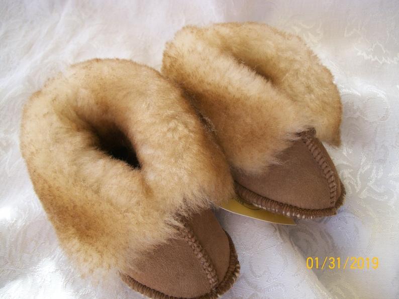 Handcrafted Kids  Sheepskin Slippers ....KIDS image 0