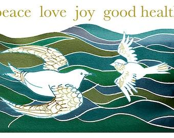 Peace On Earth season's greeting cards