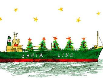 SantaLine greeting cards