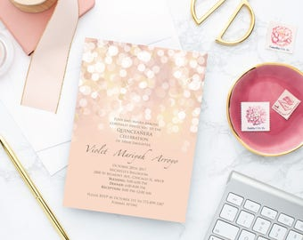 blush invitation etsy
