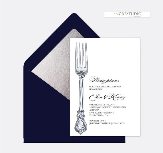Druckbare Probe Abendessen Einladung Personalisierte | Etsy
