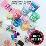 SLIME 10 Pack Mystery Bag random charms Package Deal Scented extras kids Birthday gift 1 ounce oz cheap slime clear kit top box party favor