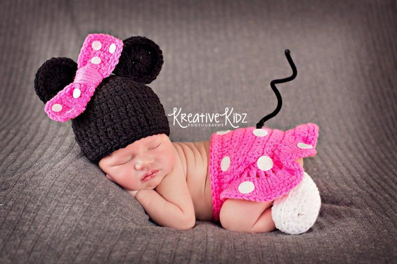 Bebé niña sombrero MINNIE MOUSE inspirado equipo o MICKEY  bd80dee2d1c