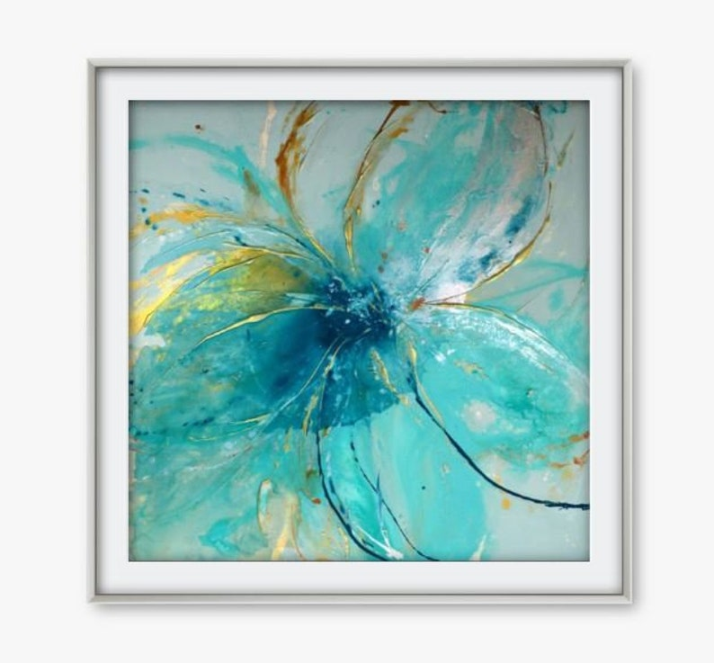Ready to hang artworks Large Flowerfloral Canvas Print by Caroline Ashwood Art Framed prints.