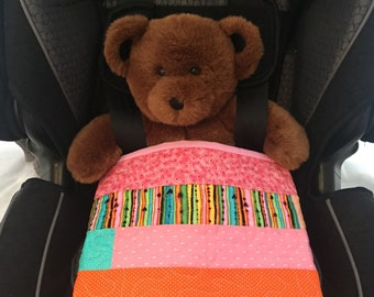 Baby Quilt Stroller Quilt Toddler Blanket Blue and Pink Quilt Baby Shower Gift Play Mat Car Seat Blanket