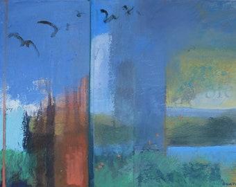 Summer Soaring (New Mexico landscape,Dawn Chandler, southwest art, Santa Fe art )