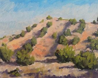 Morning Light on the Galisteo Ridge (plein air painting, New Mexico art, Santa Fe art, Galisteo Basin)