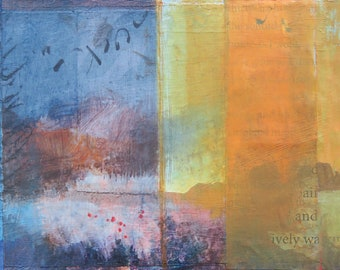 Of Lively Waking (New Mexico landscape, Dawn Chandler, abstract landscape, original painting)