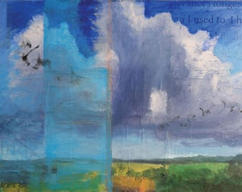 My Mind Clears With the Blessing of Clouds  (New Mexico art, Santa Fe landscape, extra large painting)