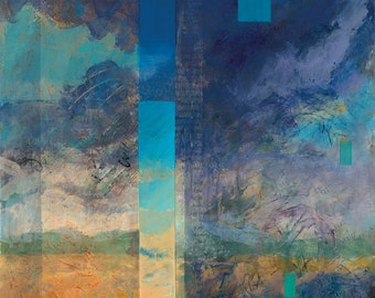 Cloud Walker, II (New Mexico art, Sante Fe painting, contemporary landscape, sky painting)