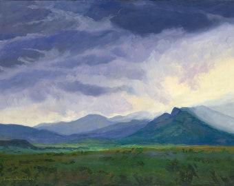 That New Mexico Evening Storm Aura (Philmont, New Mexico landscape, landscape print)