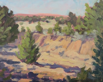 Returning to the Arroyo to Find Peace Again (plein air painting, New Mexico art, Santa Fe art, Galisteo Basin)
