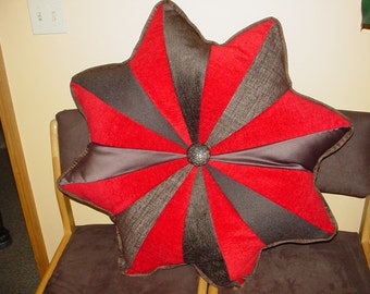 Rich Chocolate and Red Valentine Floor pillow.
