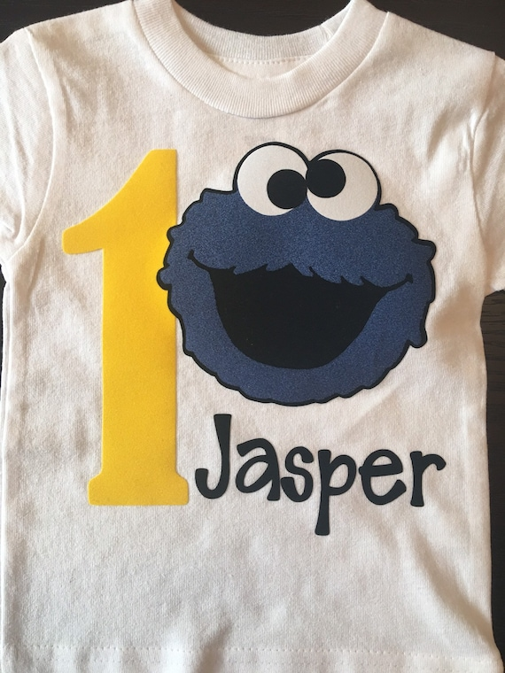 Cookie Monster Sesame Street Birthday Shirt, Sesame Street shirts, Elmo and Friends, Elmo birthday shirts, Cookie Monster