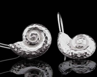 UNIQUE FIBONACCI SPIRAL  Earrings handmade in Sterling Silver