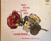 Duets with Spanish Guitar Laurido Almeida Salli Terri Martin Ruderman Vinyl LP Record Flamenco 1950s P8406