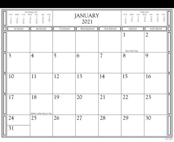 Le calendrier magnétique 2021 Organisateur familial / | Etsy
