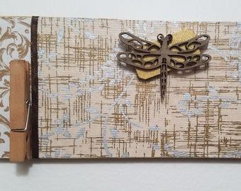 "Wall Calendar Holder ""Dragonfly"""