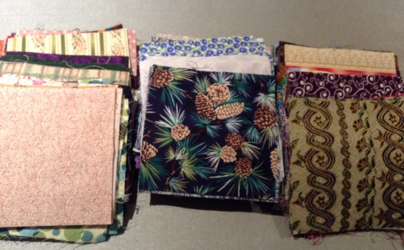 Pre-cut Quilting Squares Cotton fabric 5 squares QTY 40- Variety Mix You pick colors