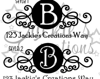 Personalized Mailbox Decals (Set of 2)