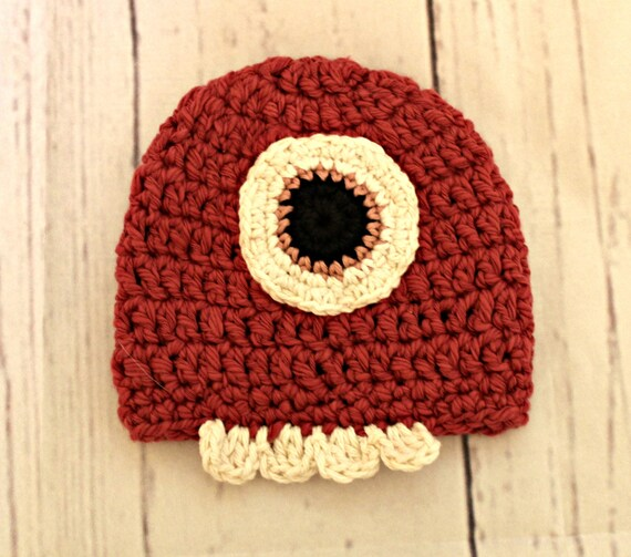 f1c88963b2f Pink Monster baby Hat 3-6 month size organic cotton