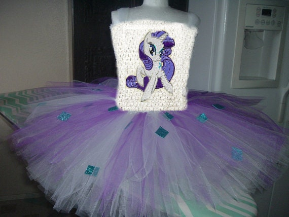 Birthday Rarity Or Any My Little Pony Costume Flower Girl Tutu Etsy