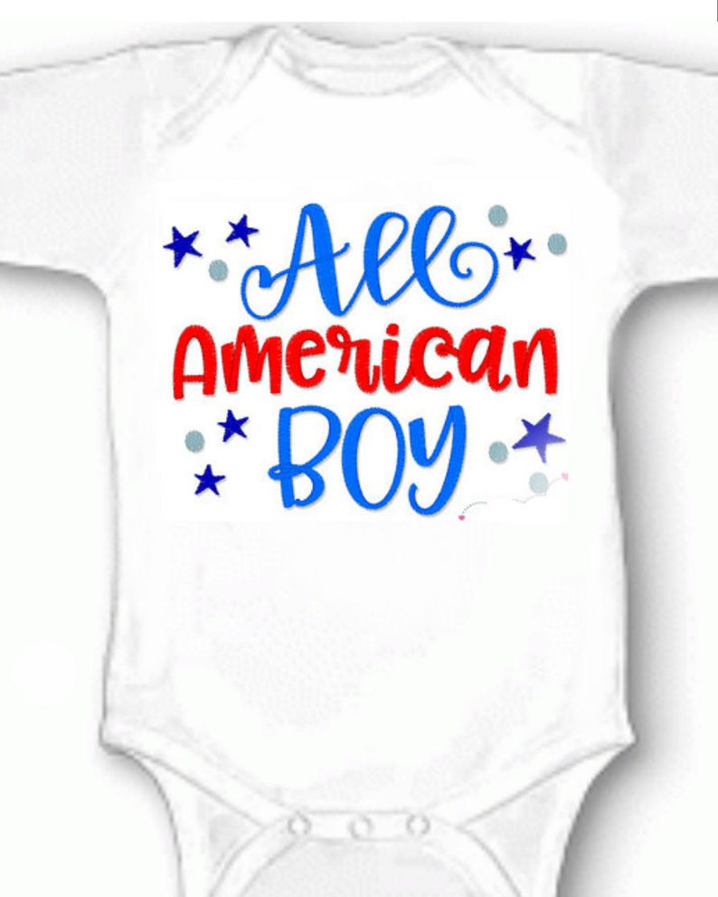 Red White and Blue 1st 4th of July Patriotic   Baby Infant Jumpsuit Outfit Romper