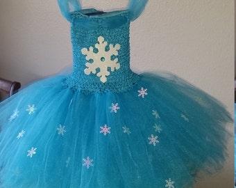 Birthday Frozen Inspired Turquoise Elsa or any color Flower Girl Tutu Dress Costume