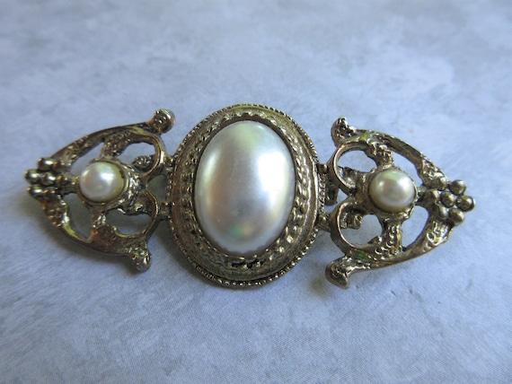 Vintage Brooch - Vintage Pearl Brooch - Antique G… - image 2