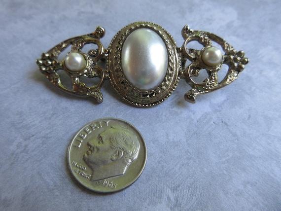 Vintage Brooch - Vintage Pearl Brooch - Antique G… - image 3