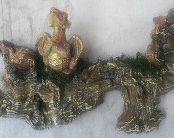Praying dragon driftwood sculpture