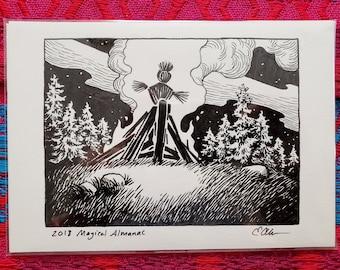 Original Art - Magical Almanac - Beltane Fire