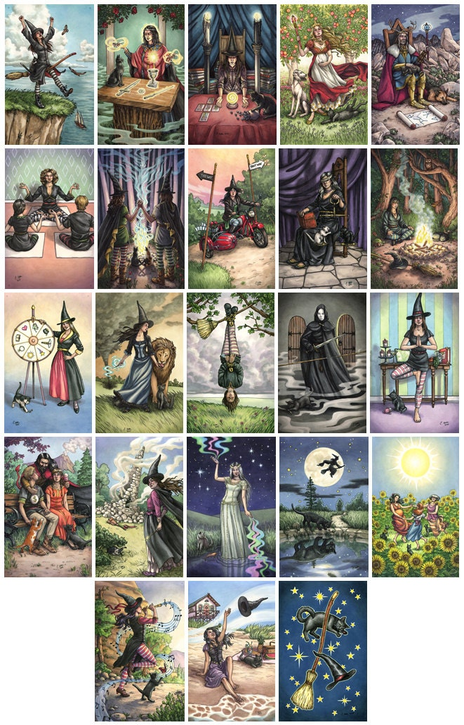 Prints Everyday Witch Tarot Choose From Major Arcana