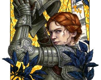 Alanna the Lioness Illustration 11x14