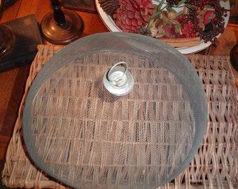 Hard to find vintage metal mesh food cover