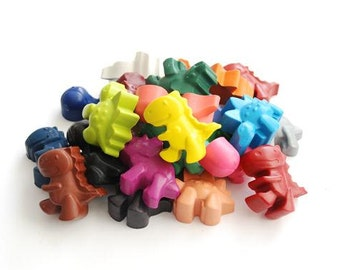 Dinosaur crayons - Handmade Crayons - Dinosaur Crayon Tub - Dinosaur Party - Party Favour - Birthday Gift  - Dinosaur Party Favours