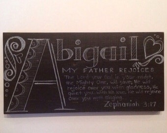Custom Name Plaque with Meaning and Bible Verse